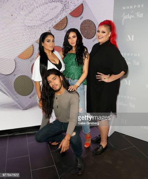 Morphe owner Linda Tawil hair stylist Jesus Guerrero YouTube personality Jaclyn Hill and Morphe Director of Global Artistry Nicole Faulkner attend...