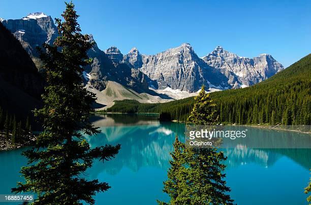 morraine lake, parque nacional de banff, canadá - ogphoto fotografías e imágenes de stock