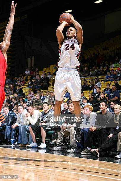 Morris Almond of the Utah Flash puts up the shot against the Idaho Stampede on March 13, 2008 at the David O. McKay Events Center in Orem, Utah. NOTE...