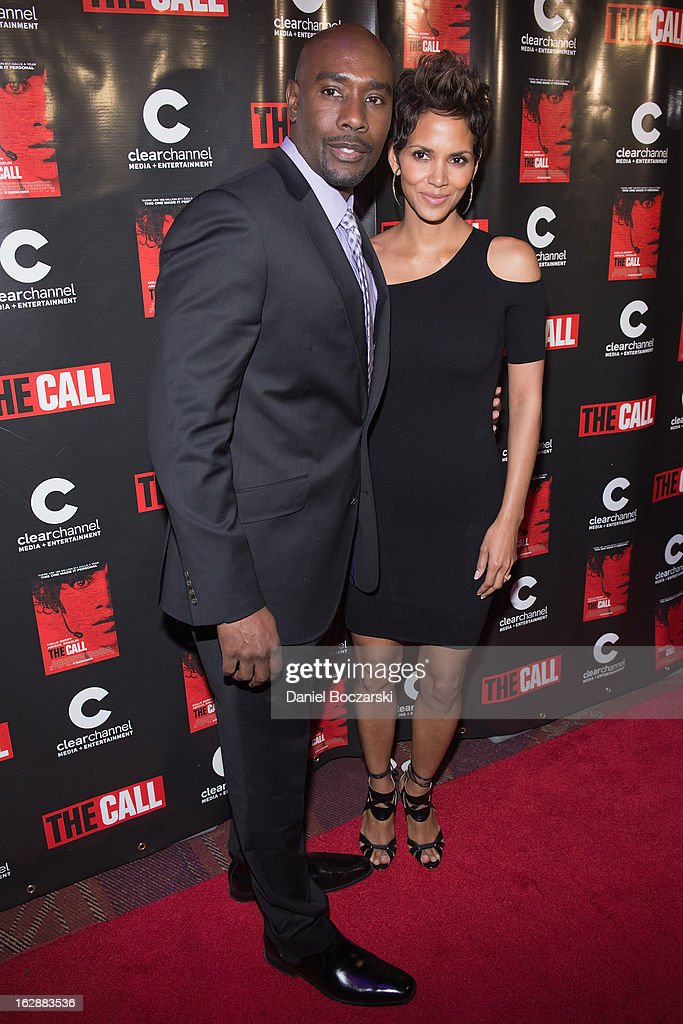 Morris Chestnut (L) and Halle Berry attend 'The Call' premiere at Showplace Icon Theater on February 28, 2013 in Chicago, Illinois.
