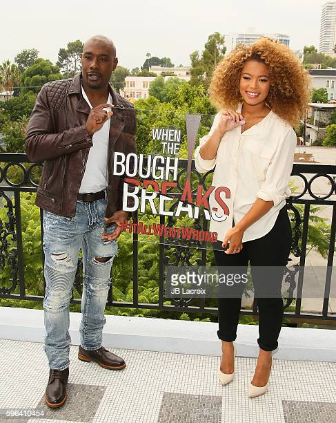 Morris Chestnut and Jaz Sinclair attend a photo call for 'When The Bough Breaks' on August 27 2016 in West Hollywood California