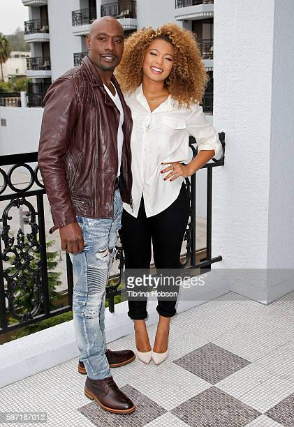 Morris Chestnut and Jaz Sinclair attend the photo call for 'When The Bough Breaks' at The London Hotel on August 27 2016 in West Hollywood California
