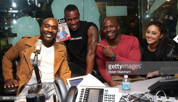 Morris Chestnut and Obi Obadike visit 'The Whoolywood Show' with SiriusXM Host Whoo Kid and Nicole 'Nickilicious' Adamo on Eminem's Shade 45 at...