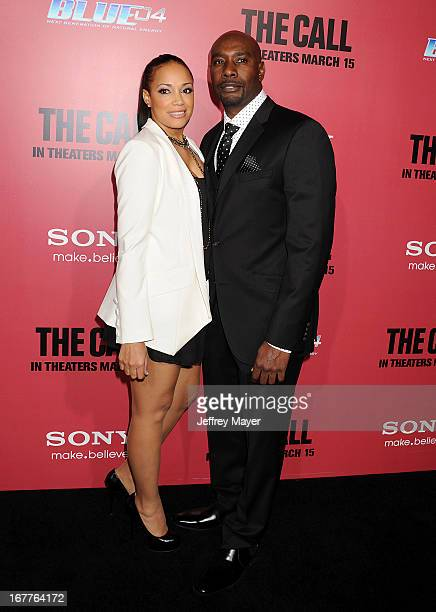Morris Chestnut and Pam Byse arrive at the Los Angeles Premiere of The Call at ArcLight Hollywood on March 5 2013 in Hollywood California