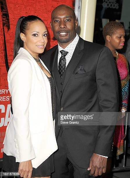 Morris Chestnut and Pam Byse arrives at the The Call Los Angeles Premiere at ArcLight Hollywood on March 5 2013 in Hollywood California
