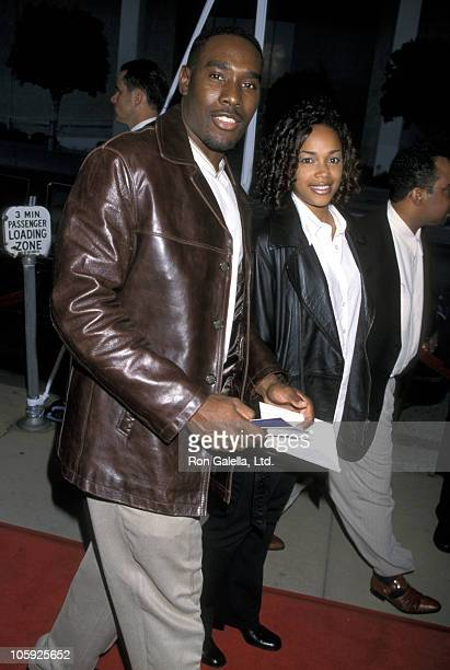 Morris Chestnut and Pam Byse during Premiere Of Whoo at Pacific Cinerama Dome in Hollywood California United States
