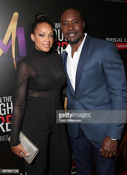 Morris Chestnut and wife Pam Byse attend the Premiere Of Sony Pictures Releasing's When The Bough Breaks at Regal LA Live Stadium 14 on August 28...