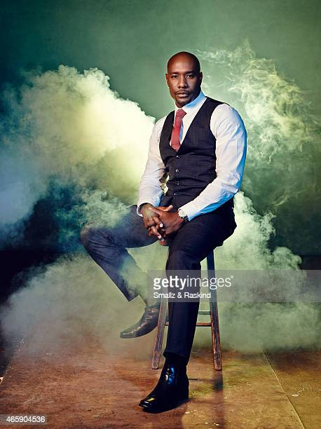 Morris Chestnut from the cast of television show 'Legends' pose for a portrait for The Hollywood Reporter on August 2 2014 in Los Angeles California