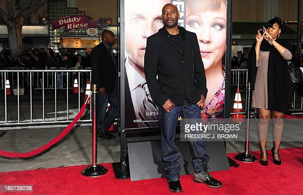 Morris Chestnut poses on arrival for the World Premiere of the film 'Identity Thief' in Los Angeles, California, on February 4, 2013. The films opens...