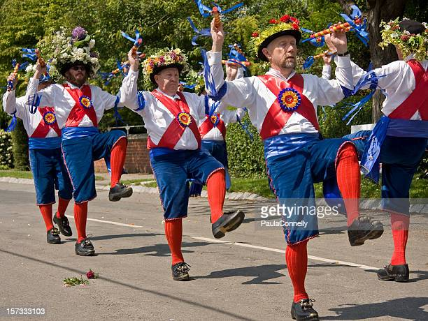 morris dancers - morris dancing stock photos and pictures