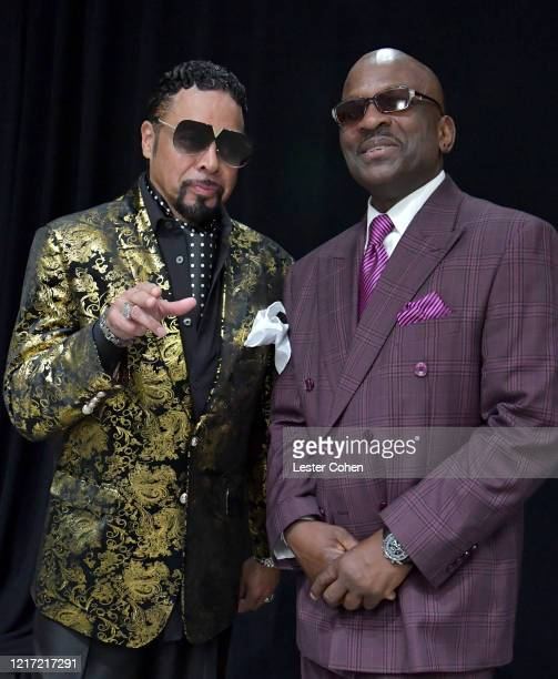 Morris Day and Jerome Benton attend the 62nd Annual GRAMMY Awards Let's Go Crazy The GRAMMY Salute To Prince on January 28 2020 in Los Angeles...