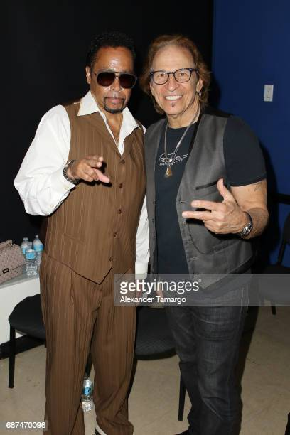 Morris Day and Richie Supa pose at Recovery Unplugged Treatment Center on May 23, 2017 in Ft. Lauderdale, Florida.