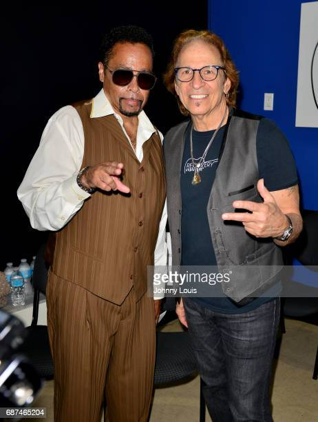 Morris Day and Richie Supa pose for picture after a Unplugged Performance by Kendra Erika and Richie Supa with inspirational messages through music...