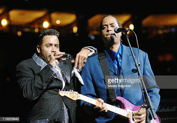 Morris Day during Morris Day and the Time Post Game Concert at the Atlanta Hawks vs Cleveland Cavaliers Game December 1 2006 at Philips Arena in...