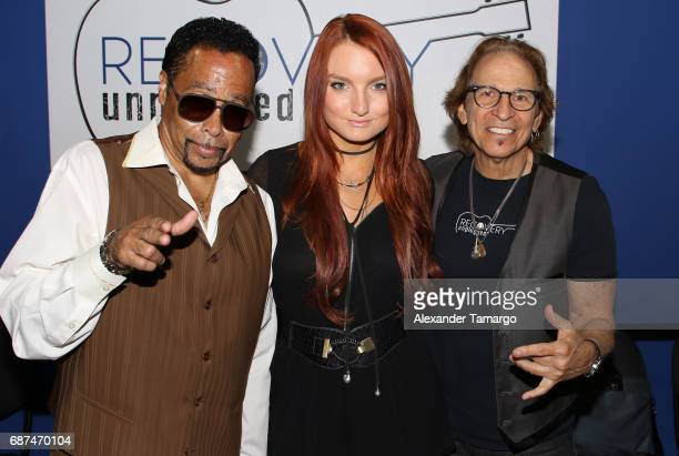 Morris Day, Kendra Erika and Richie Supa pose at Recovery Unplugged Treatment Center on May 23, 2017 in Ft. Lauderdale, Florida.