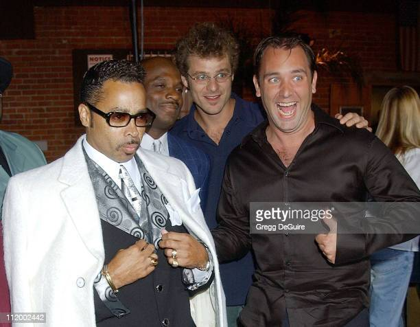 Morris Day Matt Stone Trey Parker during 'South Park's' 5th Anniversary Party at Quixote Studios in Hollywood California United States