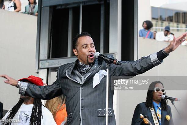 Morris Day performs for Toronto Jazz Festival Presents Morris Day And The Time In Concert at Nathan Phillips Square on June 19 2015 in Toronto Canada