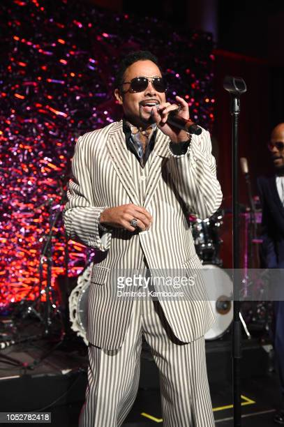 Morris Day The Time perform on stage at the 2018 Angel Ball hosted by Gabrielle's Angel Foundation at Cipriani Wall Street on October 22 2018 in New...