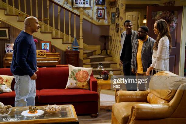 SHOW 'Morris' Episode 308 Pictured David Alan Grier as Joe Carmichael Jerrod Carmichael as Jerrod Carmichael Lil'Rel Howery as Bobby Carmichael Amber...