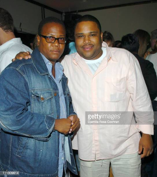 Morris L. Reid and Anthony Anderson during Pirelli Watches and Hamptons Magazine Host the Golf Classic Party at Cain in Southampton, NY, United...