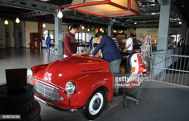 Morris Minor car 1951 model is displayed in Heritage Transport Museum at BilaspurTauru Road on December 10 2016 in Gurgaon India The Heritage...