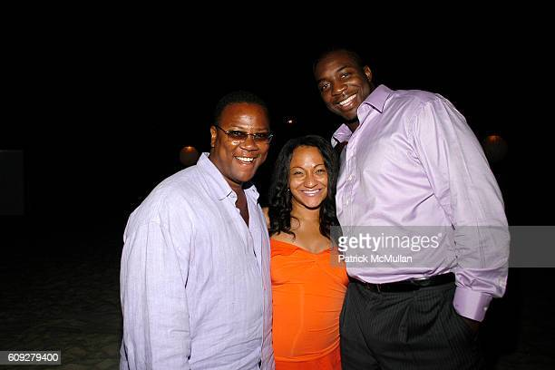 Morris Reid, Danielle Thomas and Bryan Thomas attend LINDA WELLS and CHARLIE THOMPSON's Annual Clambake at Old Town Beach on July 21, 2007 in...