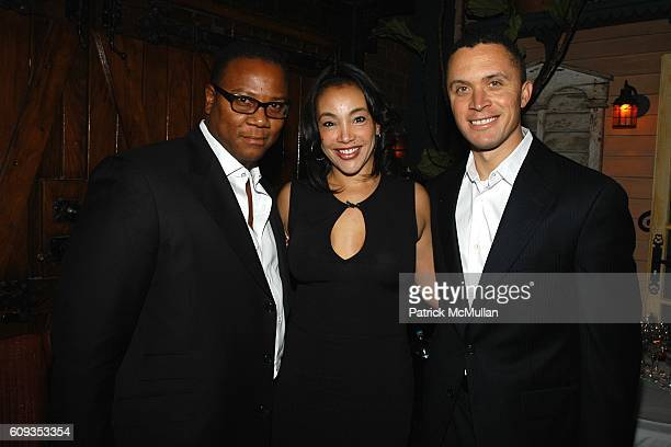 Morris Reid Jaci Reid and Harold Ford attend Ronald Perelman's Dinner in Honor of Sheryl Crow and the Launch of the REVLON COLORIST Campaign at The...