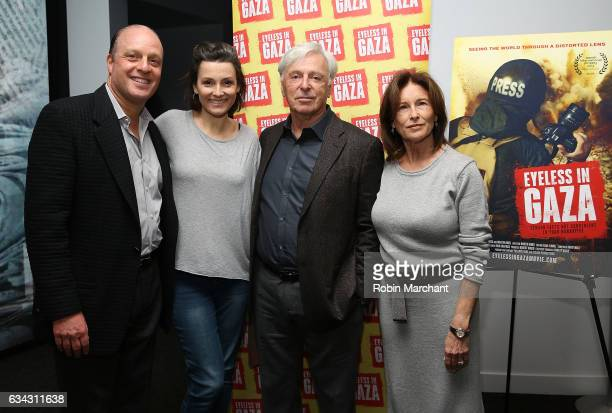 Morris S Levy Alison Bailes Robert Magid and Ruth Magid attend Eyeless In Gaza NYC Premiere Screening on February 8 2017 in New York City