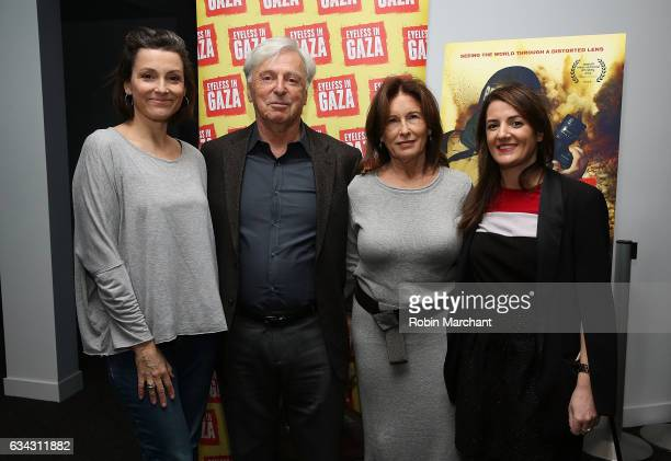 Morris S Levy Alison Bailes Robert Magid Ruth Magid and Julie Hazan attend Eyeless In Gaza NYC Premiere Screening on February 8 2017 in New York City