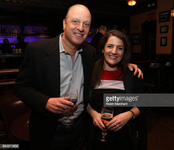 Morris S Levy and Julie Hazan attend Eyeless In Gaza NYC Premiere Screening After Party on February 8 2017 in New York City
