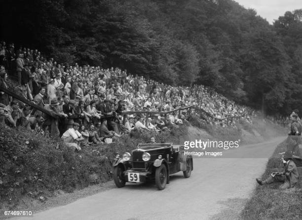 Morris special of Barbara Skinner at the MAC Shelsley Walsh Hill Climb Worcestershire 1932 Artist Bill Brunell
