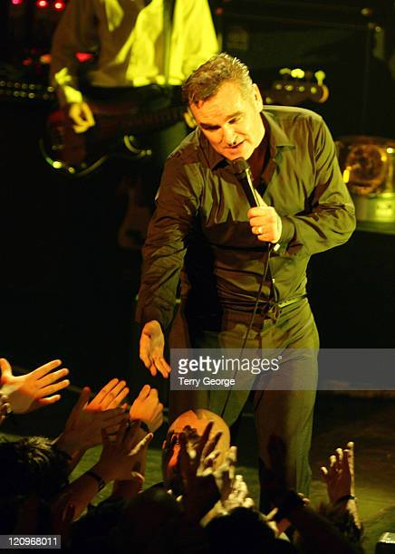 Morrissey during Morrissey in concert May 10 2006 at Victoria Theatre in Halifax Great Britain