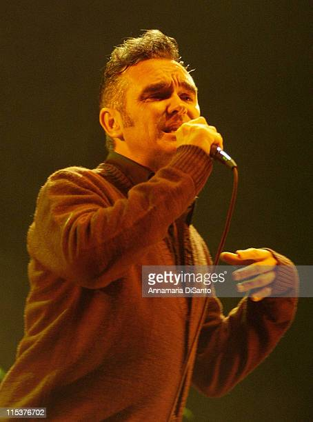 Morrissey during Morrissey Live in Concert 2002 at Anaheim in Anaheim California United States