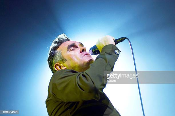 Morrissey in concert performing live at the Manchester Apollo on the 6th May 2006