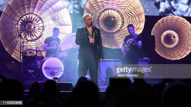 Morrissey performs at LuntFontanne Theatre on May 2 2019 in New York City