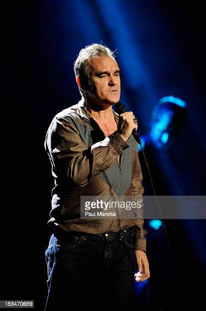 Morrissey performs at Wang Theatre on October 5 2012 in Boston Massachusetts