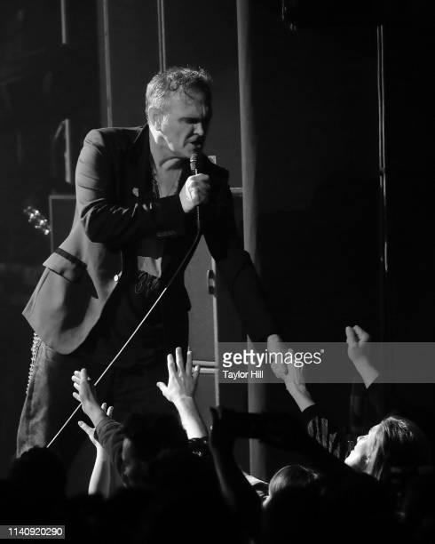 Morrissey performs during his Broadway debut at LuntFontanne Theatre on May 2 2019 in New York City