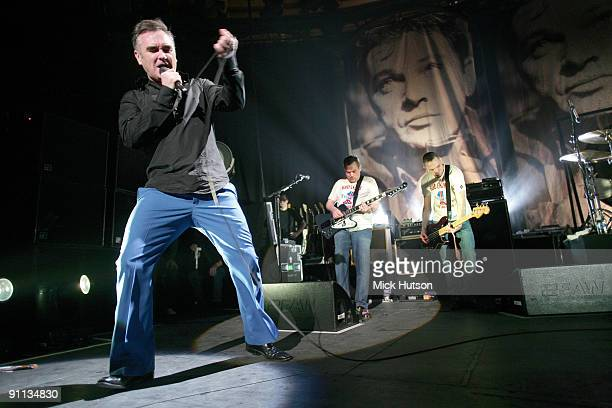 Morrissey performs live at The Roundhouse in Camden London on January 22 2008