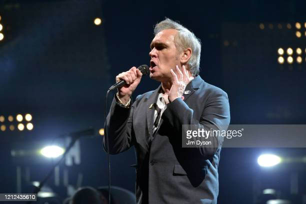 Morrissey performs live on stage at Wembley Arena on March 14 2020 in London England