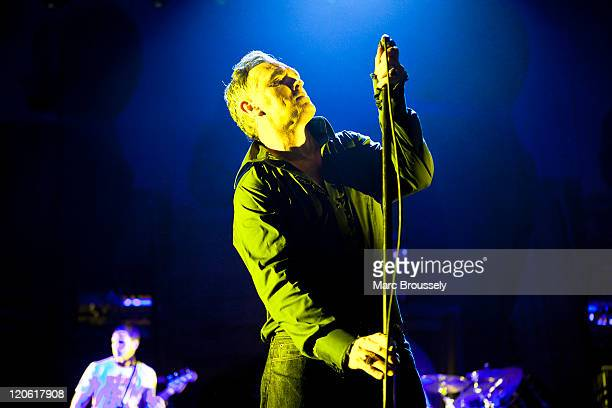 Morrissey performs on stage at Brixton Academy on August 7, 2011 in London, United Kingdom.