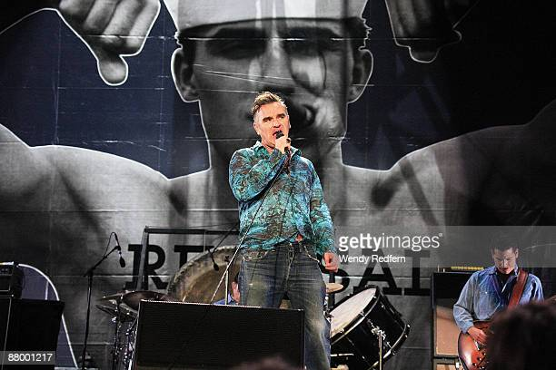 Morrissey performs on stage at Coachella Festival 2009 at Empire Polo Field on April 17 2009 in Indio California USA