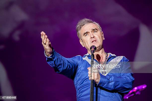 Morrissey performs on stage on the 1st day of SOS48 on May 1 2015 in Murcia Spain