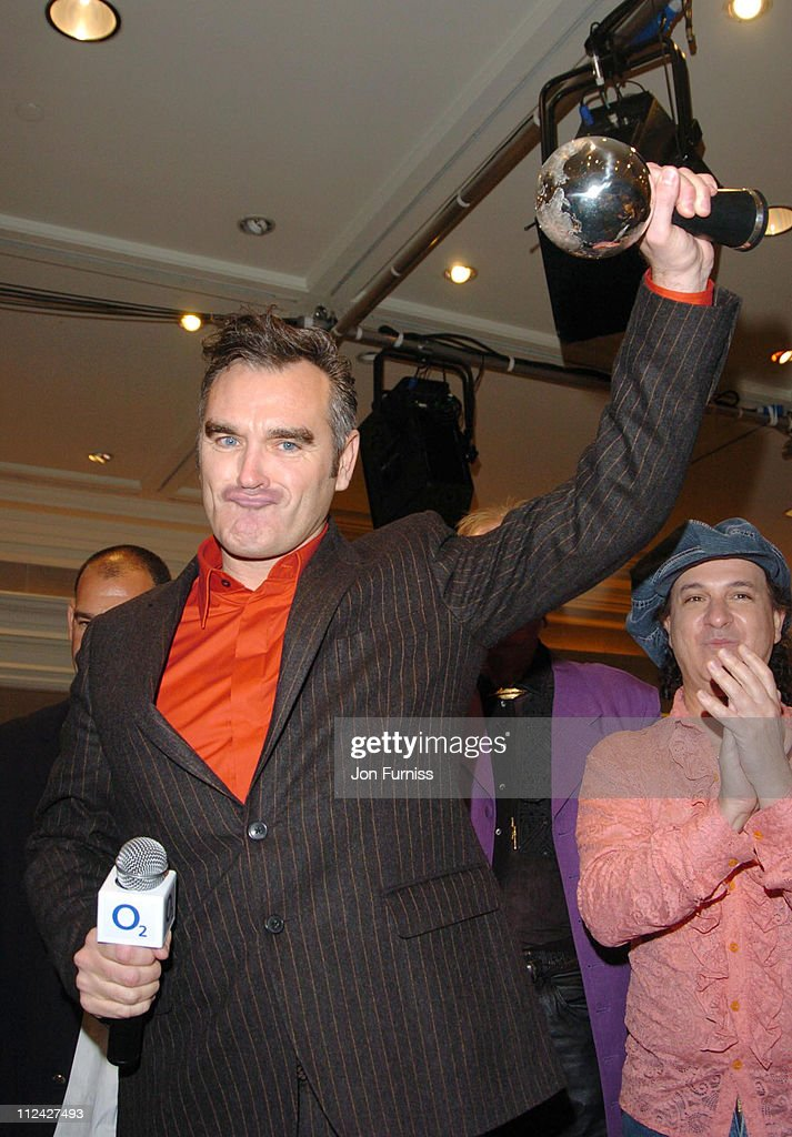 Morrissey, winner of the Silver Clef Award during Nordoff-Robbins O2 Silver Clef Awards 2004 - Presentations at The Intercontinental Hotel, Mayfair in London, United Kingdom.