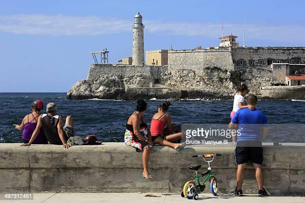 Morro Castle with locals