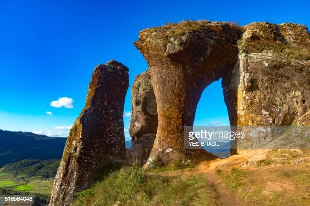 morro do campestre, urubici, santa catarina, brasil - hill range stock pictures, royalty-free photos & images