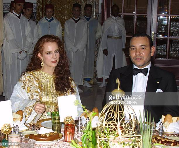 Morrocan King Mohammed VI and his wife Lalla Salma host a dinner on the sidelines of the second annual Marrakesh film festival 19 September 2002 A...