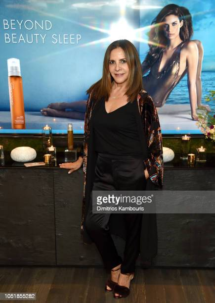 Morrocanoil Co-Founder Carmen Tal attends as Moroccanoil® and Beauty Ambassador Sara Sampaio Celebrate the launch Of Night Body Serum on October 10,...