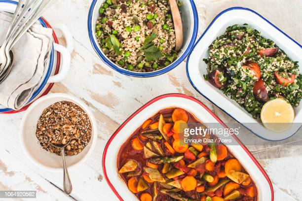 morroccan lunch banquet, close-up - moroccan culture stock pictures, royalty-free photos & images