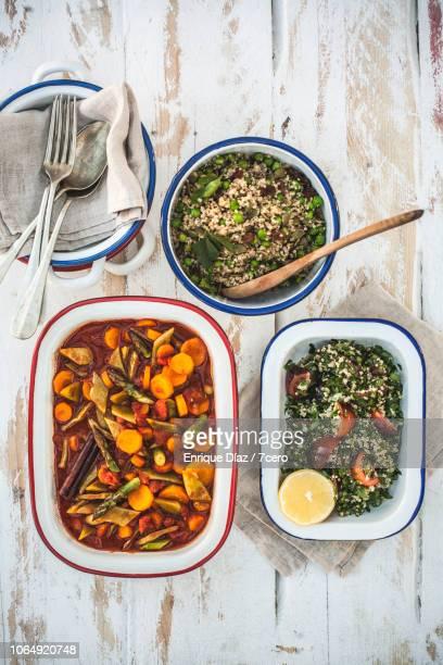 morroccan lunch banquet, vertical - おかず系 ストックフォトと画像