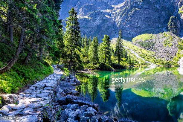 Morskie oko lake in Tatra Mountains, Poland